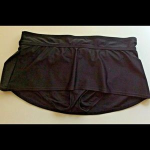 Liz Lange Maternity Swim Skirt Bottom Small Black